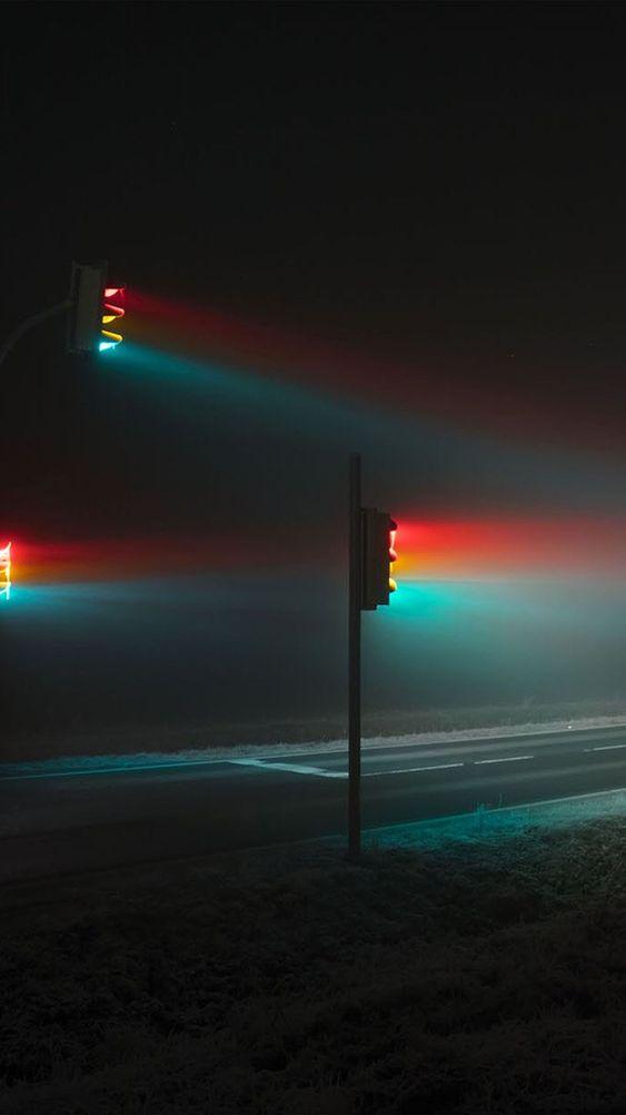 iphone neon trafik isiklari arkaplan