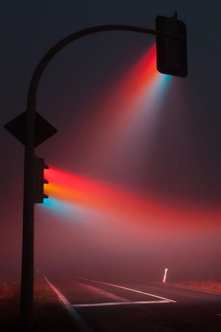 neon trafik isiklari retro