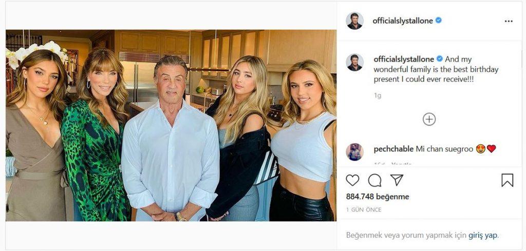 Slyvester Stallone doğum günü ve ailesi